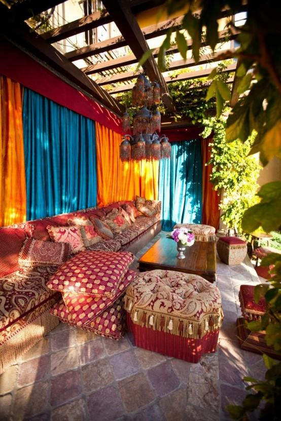 75 Charming Morocco-Style Patio Designs - DigsDigs on Moroccan Backyard Design  id=63505