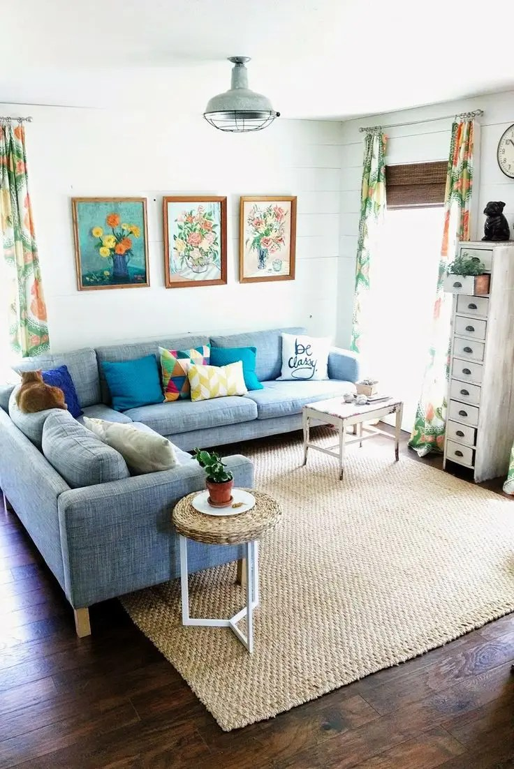 33 Cheerful Summer Living Room Décor Ideas | DigsDigs on Room Decore  id=49218