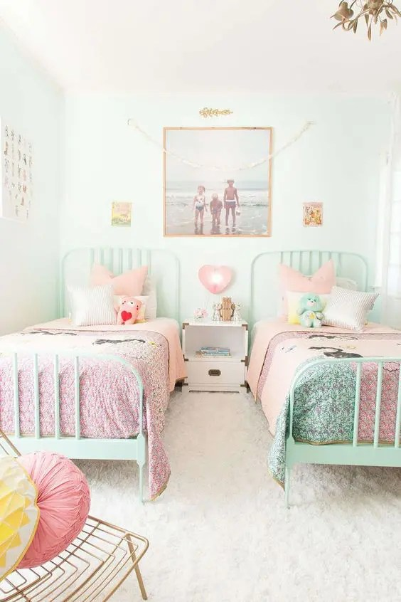 22 Chic And Inviting Shared Teen Girl Rooms Ideas - DigsDigs on Room Decorations For Girls  id=44260