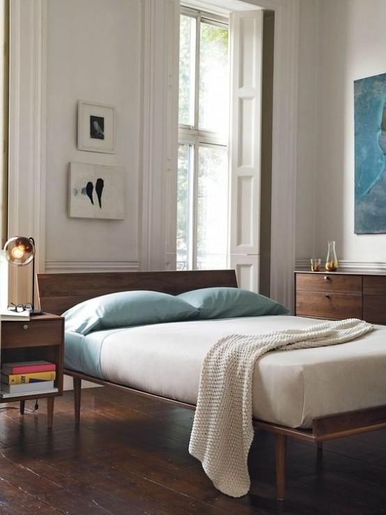 30 Chic And Trendy Mid-Century Modern Bedroom Designs ... on Trendy Bedroom Ideas  id=56522