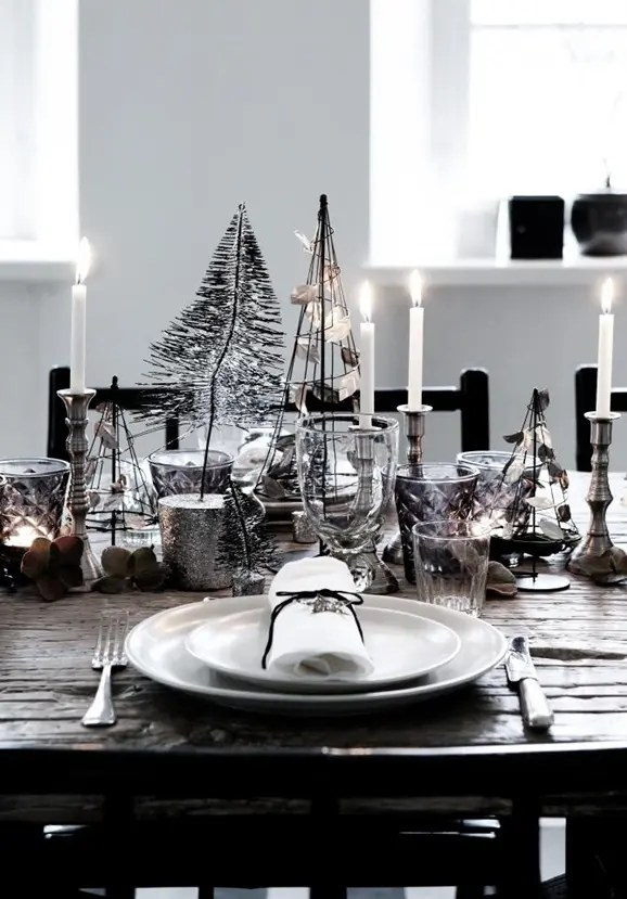 Xmas Table Settings Decorations