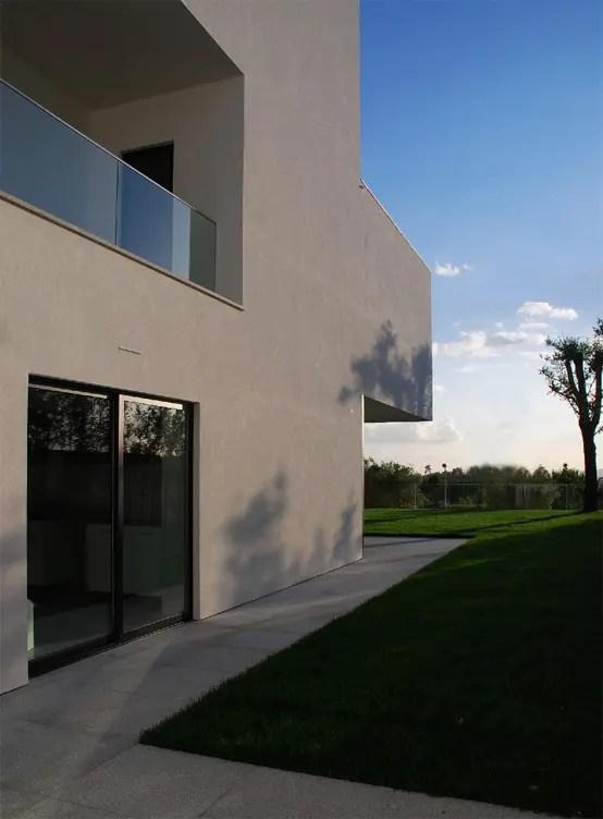 White Concrete Three Storey House CS House By Pitagoras Arquitectos DigsDigs
