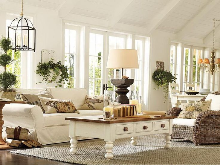 27 Comfy Farmhouse Living Room Designs To Steal   DigsDigs on Farmhouse Style Living Room Curtains  id=30711