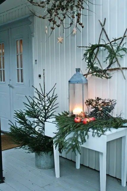 40 Comfy Rustic Outdoor Christmas Décor Ideas - Interior ... on Backyard Decor  id=75954