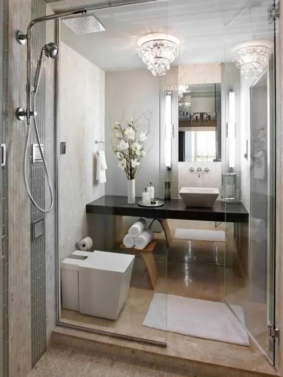 26 Cool And Stylish Small Bathroom Design Ideas - DigsDigs on Small:jdu_Ojl7Plw= Kitchen Remodel Ideas  id=16584