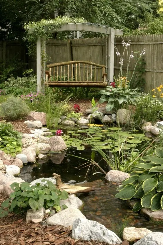 67 Cool Backyard Pond Design Ideas - DigsDigs on Small Backyard Pond  id=31283