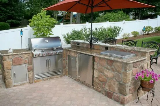 29 Cool Outdoor Barbeque Areas - DigsDigs on Patio Grilling Area id=68059