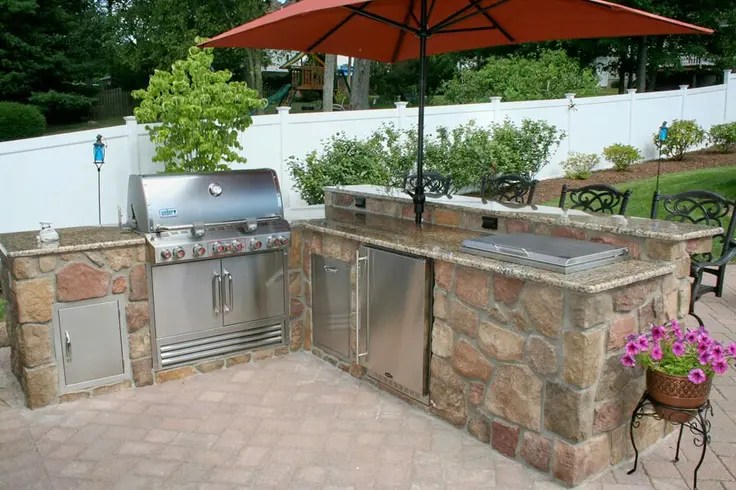 29 Cool Outdoor Barbeque Areas | DigsDigs on Patio Grilling Area  id=29416