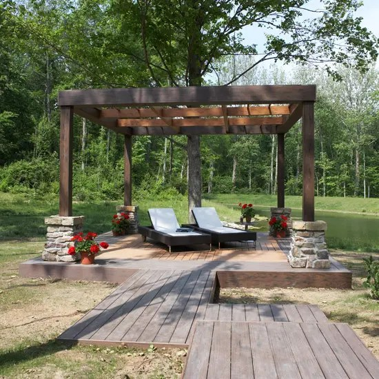 35 Cool Outdoor Deck Designs - DigsDigs on Cool Backyard Patio Ideas id=60485
