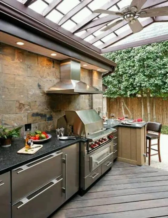 56 Cool Outdoor Kitchen Designs | DigsDigs on Patio Kitchen  id=52644