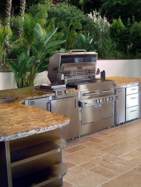 outdoor patio kitchen design 95 Cool Outdoor Kitchen Designs - DigsDigs
