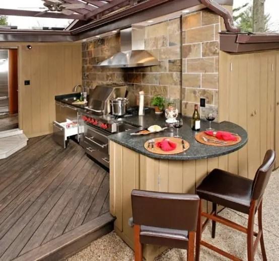 95 Cool Outdoor Kitchen Designs - DigsDigs on Yard Kitchen Design id=78017