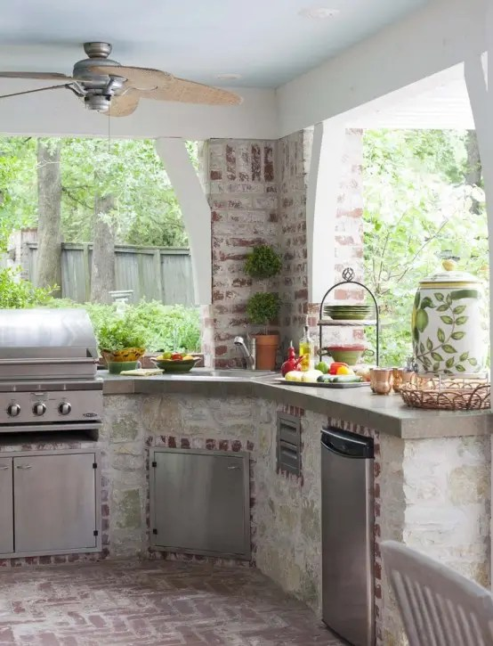95 Cool Outdoor Kitchen Designs - DigsDigs on Outdoor Kitchen Patio  id=44077