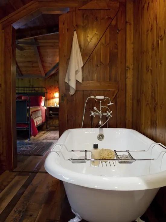 39 Cool Rustic Bathroom Designs - DigsDigs on Rustic:s9Dkpzirpk8= Farmhouse Bathroom  id=96289