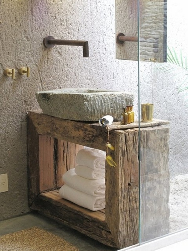 39 cool rustic bathroom designs digsdigs on rustic bathroom designs photos id=97225