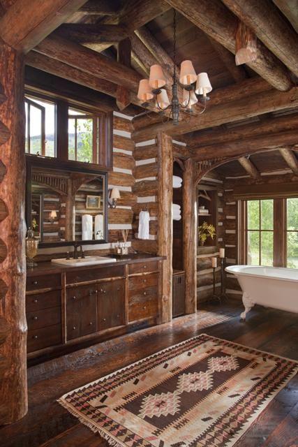 39 Cool Rustic Bathroom Designs - DigsDigs on Rustic:s9Dkpzirpk8= Farmhouse Bathroom  id=48264