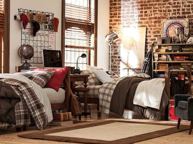 42 Cool Shared Teen Boy Rooms Décor Ideas - DigsDigs on Teenage Room Colors For Guy's  id=78545