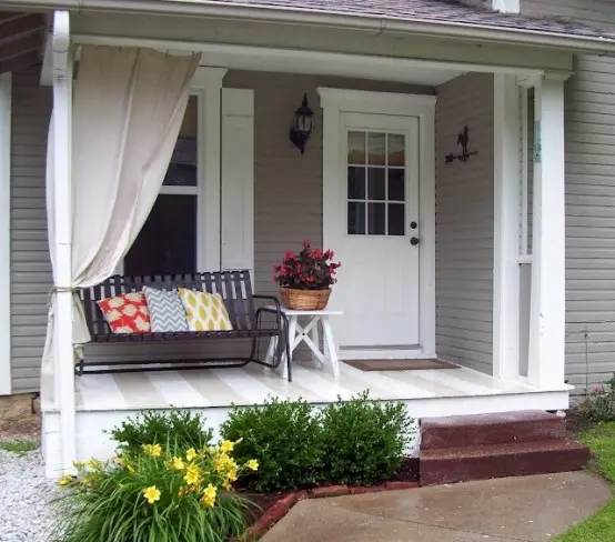 47 Cool Small Front Porch Design Ideas Digsdigs | Home Front Stairs Design | Outside Stair | Double Floor | Building | Balcony | Beautiful