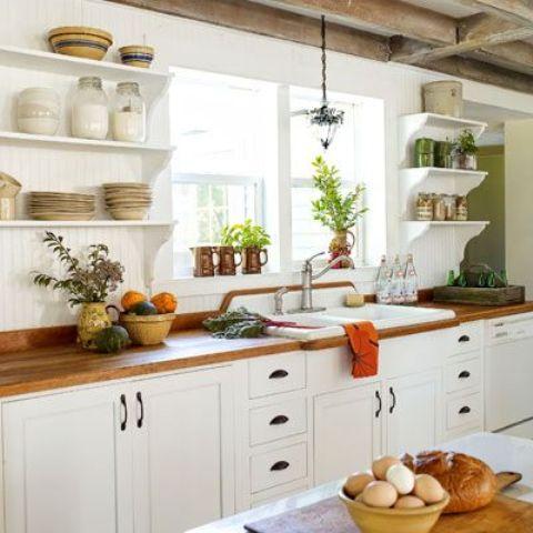 35 Cozy And Chic Farmhouse Kitchen Décor Ideas - DigsDigs on Farm House Kitchen Ideas  id=87152