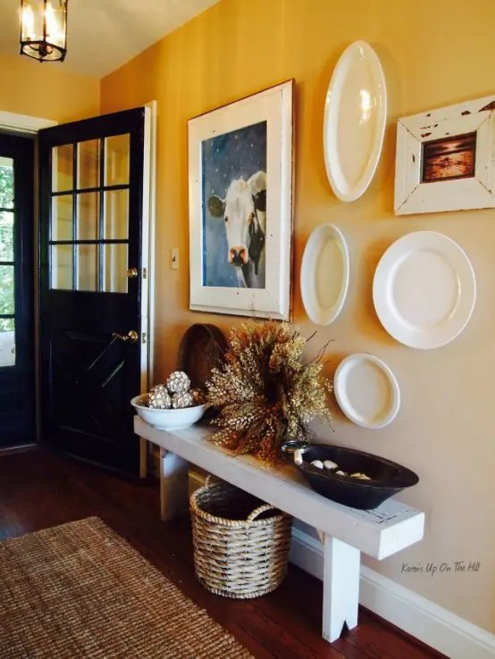 27 Cozy And Simple Farmhouse Entryway Dcor Ideas DigsDigs