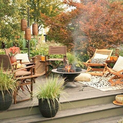 55 Cozy Fall Patio Decorating Ideas - DigsDigs on Backyard Deck Decor  id=25299
