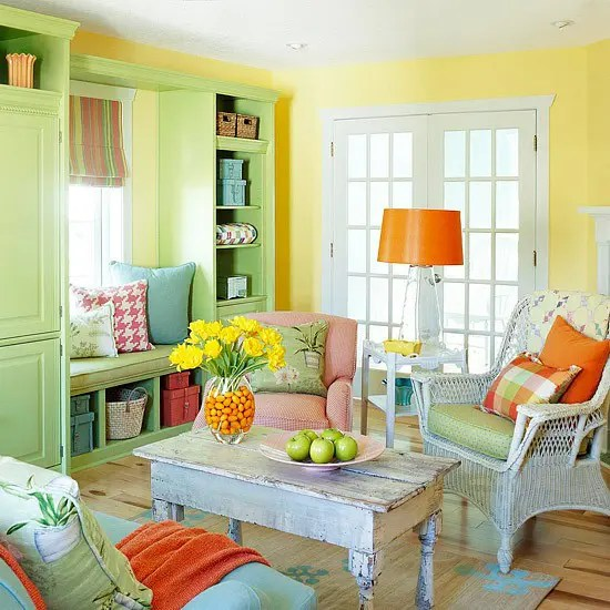 Yellow And Green Living Room Ideas