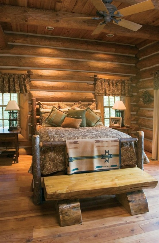 A brick wall in the kitchen is one of the most popular ideas because. 65 Cozy Rustic Bedroom Design Ideas - DigsDigs