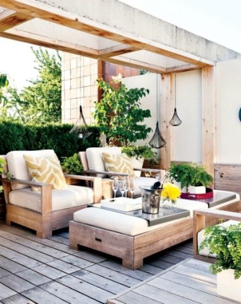 57 Cozy Rustic Patio Designs - DigsDigs on Backyard Deck Decor  id=38117