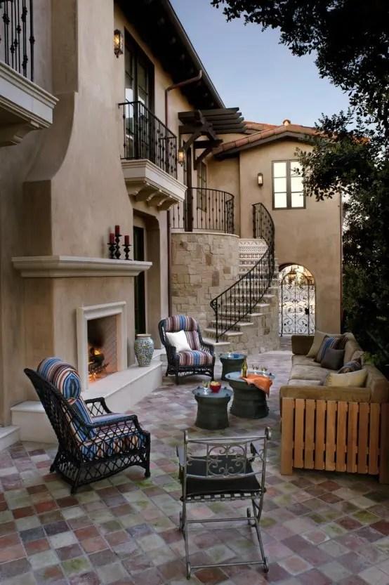 57 Cozy Rustic Patio Designs - DigsDigs on Cozy Patio Ideas id=13811