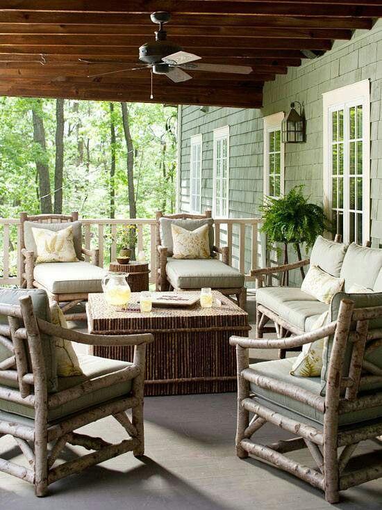 57 Cozy Rustic Patio Designs - DigsDigs on Cozy Patio Ideas id=34219