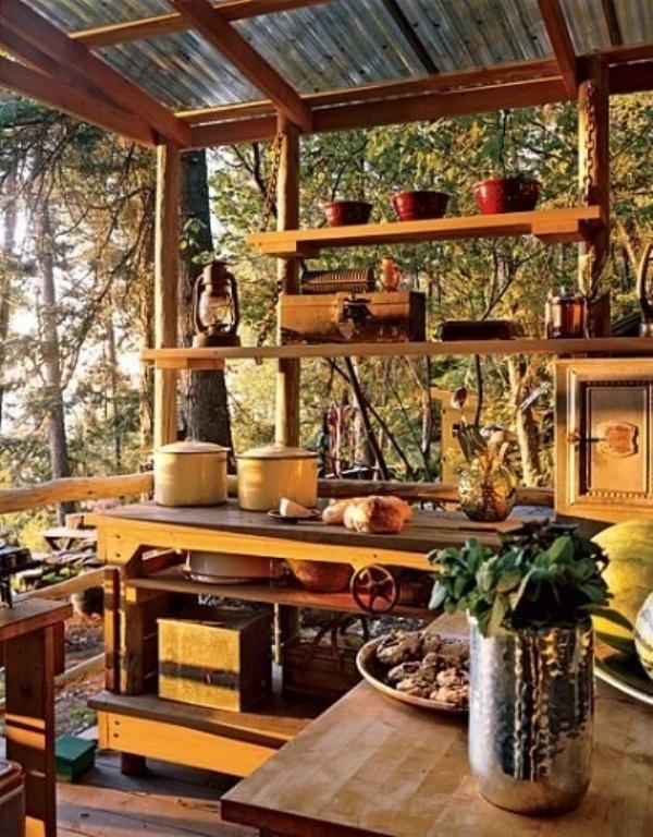 45 Creative Small Kitchen Design Ideas - DigsDigs on Farmhouse:4Leikoxevec= Rustic Kitchen Ideas  id=34657