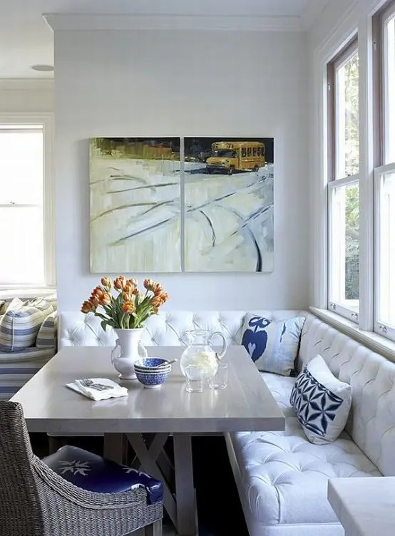 40 Cute And Cozy Breakfast Nook Décor Ideas - DigsDigs on Remodel:ll6Wzx8Nqba= Small Kitchen Ideas  id=73173