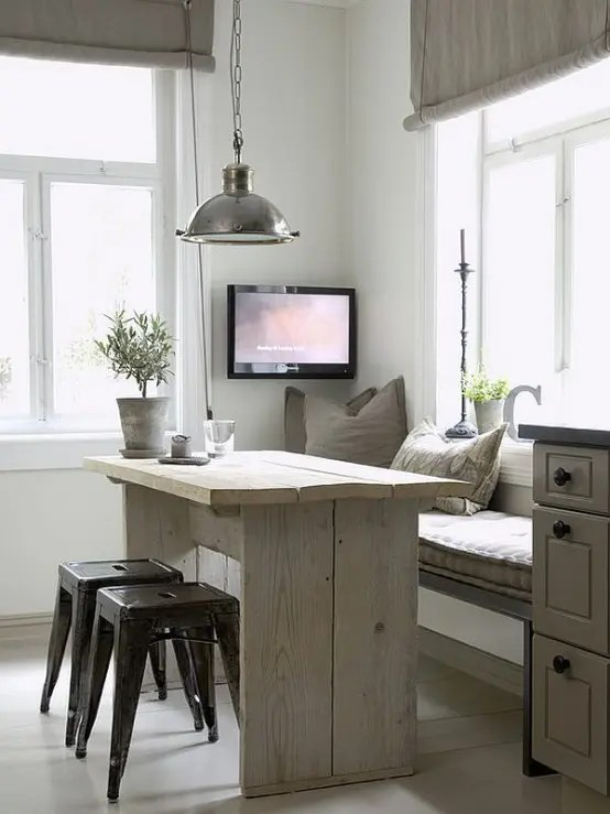 40 Cute And Cozy Breakfast Nook Décor Ideas - DigsDigs on Remodel:ll6Wzx8Nqba= Small Kitchen Ideas  id=43797