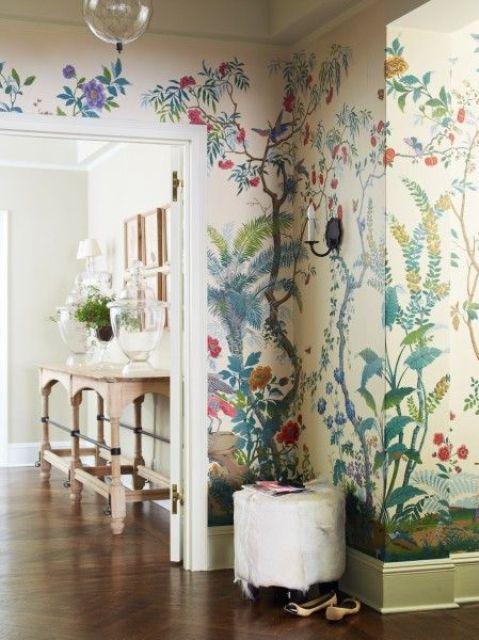 Decorating With Botanical Wallpaper 31 Beautiful Ideas