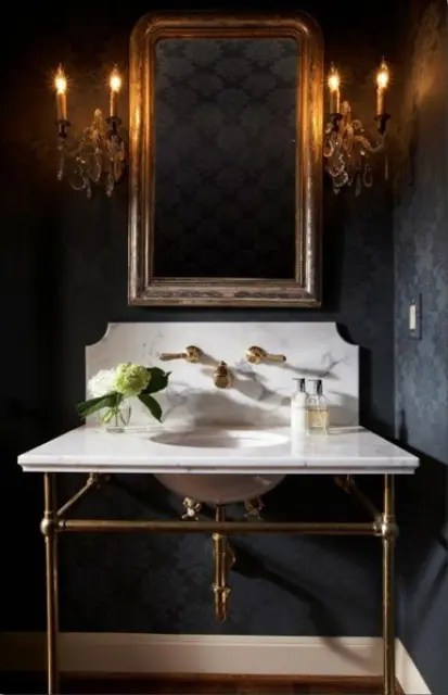 We may earn commission on some of the items you choose to buy. 22 Dramatic Gothic Bathroom Designs Ideas - DigsDigs