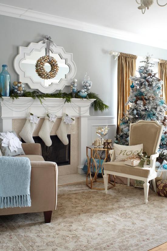 55 Dreamy Christmas Living Room Décor Ideas - DigsDigs on Room Decor Photos  id=22373