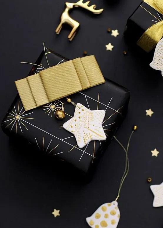 36 Super Elegant Black And Gold Christmas Dcor Ideas