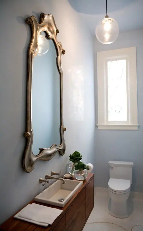 Small And Elegant Powder Room Design Digsdigs