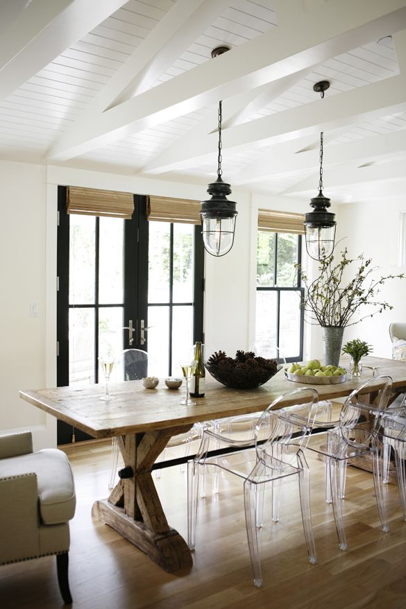 34 Farmhouse Dining Rooms And Zones To Get Inspired | DigsDigs on Rustic:1Gdhjdx6F3G= Farmhouse Kitchen  id=26409