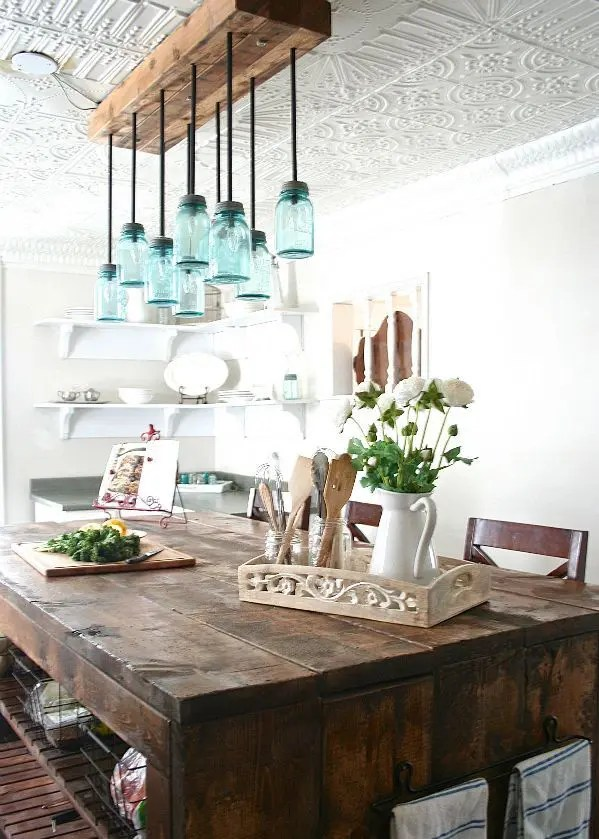 34 Farmhouse Dining Rooms And Zones To Get Inspired | DigsDigs on Rustic:1Gdhjdx6F3G= Farmhouse Kitchen  id=34649