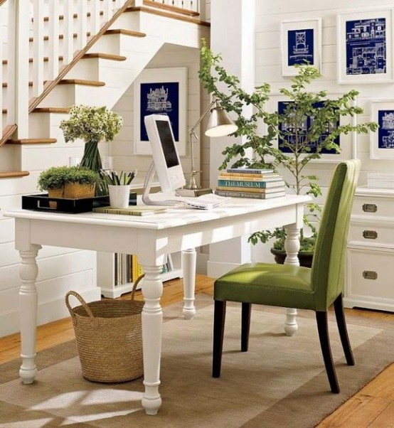 Work In Coziness  20 Farmhouse Home Office D    cor Ideas   DigsDigs Farmhouse Home Office Decor Ideas