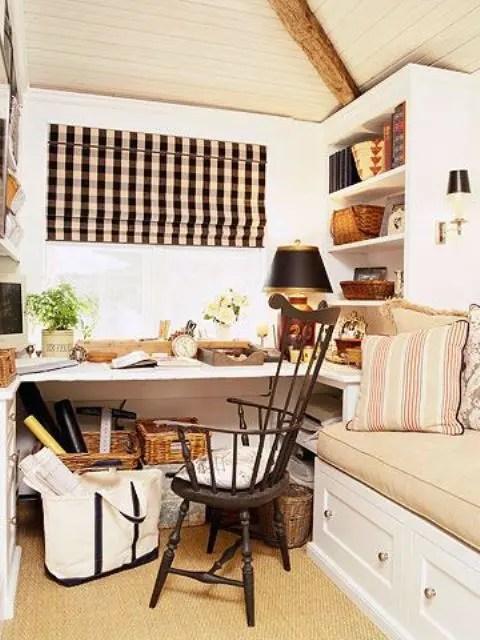 Work In Coziness 20 Farmhouse Home Office Dcor Ideas