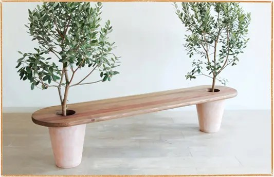 Seating Furniture Combined With Plants En Gi By Mono