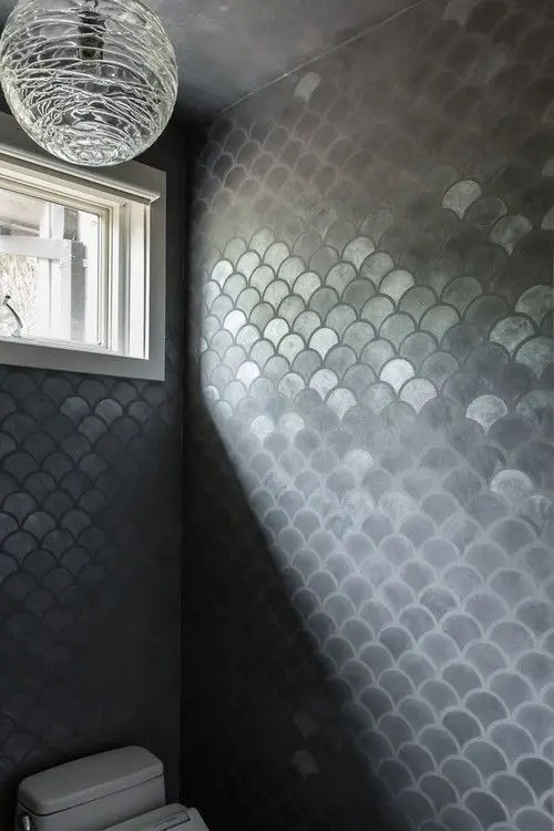 32 Gorgeous And Eye Catching Fish Scale Tiles Dcor Ideas DigsDigs