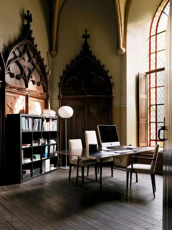 21 Gorgeous Gothic Home Office And Library Dcor Ideas