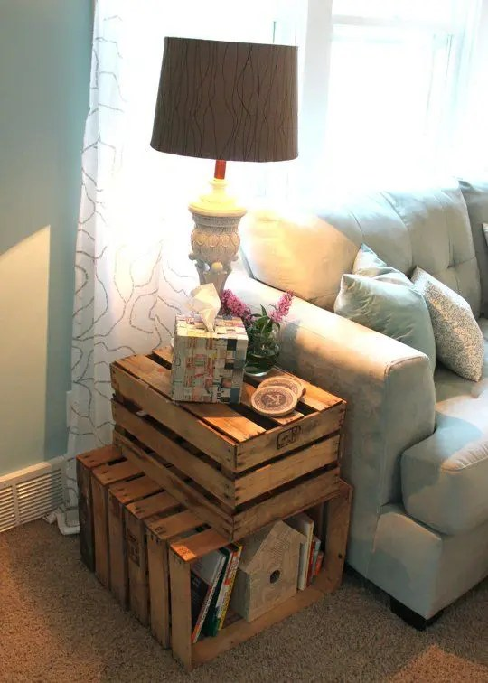 Advertisement if you plan to work at home, keeping your office space free from di. How To Incorporate Wood Crates Into Decor: 33 Ideas ...