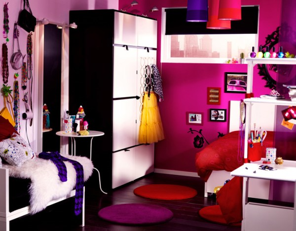 ikea teenage girl bedroom ideas IKEA 2010 Teen and Kids Room Design Ideas | DigsDigs