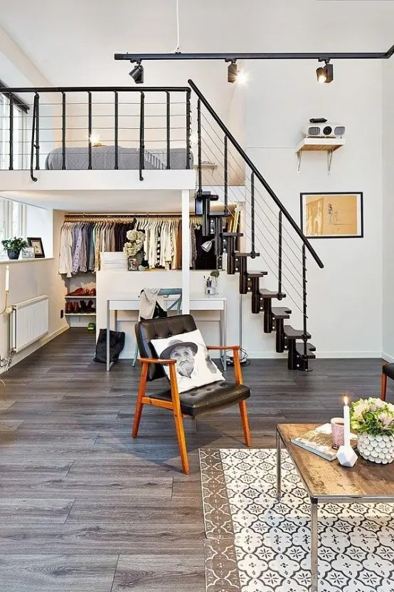 It's likely you and your guests will spend countless hours in this room, discussing and entertaining. 29 Impressive And Chic Loft Bedroom Design Ideas - DigsDigs
