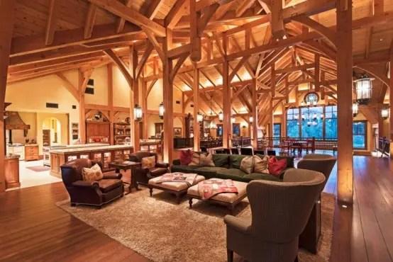Incredible Barn Mansion Of Wood And Stone In Utah Digsdigs