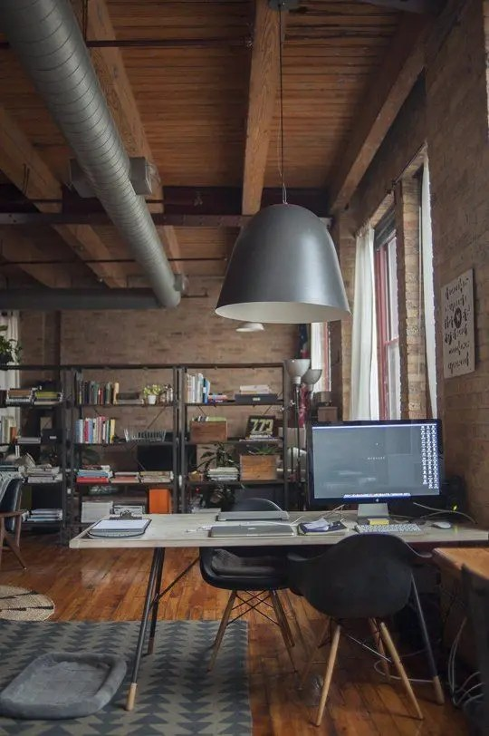 26 Industrial Home Offices That Blow Your Mind DigsDigs